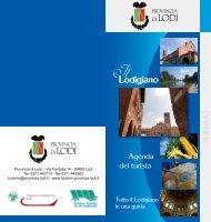 Agenda del Turista - Turismo Provincia di Lodi