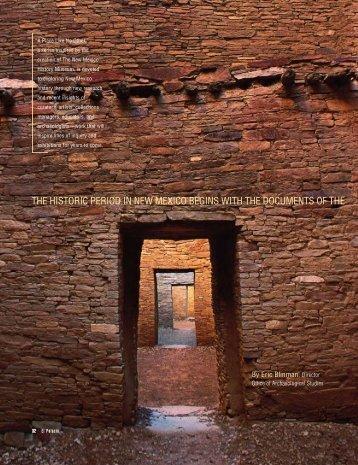 Pre-History of New Mexico - El Palacio Magazine