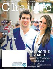 Chai Life Spring 2013 (PDF Document) - Jewish Federation of South ...