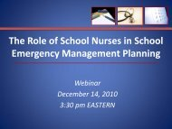 The Role of School Nurses in School Emergency - Readiness and ...