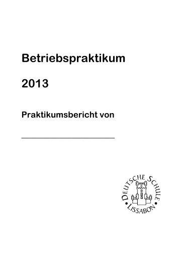 Praktikumsbericht - Deutsche Schule Lissabon
