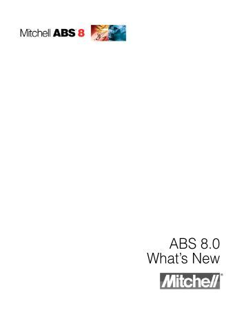 ABS 8.0 What's New - Mitchell International