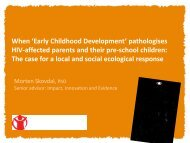 Early Childhood Development - The Coalition for Children Affected ...