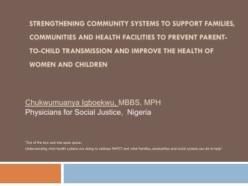Strengthening community systems to support families, communities ...
