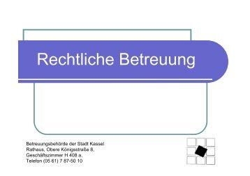 Vortrag von Frau Kathrin Schönrath, Betreuungsbehörde Teltow ...