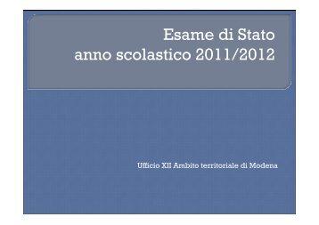 Esami Stato II grado 2011 vista 2012 rivisitato.pdf - Centro servizi ...