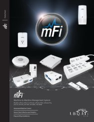 mFi | Datasheet - Ubiquiti Networks
