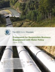 Framework for Responsible Business Engagement ... - Pacific Institute