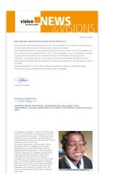Newsletter February 2012 - Vision for the World