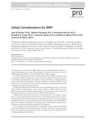 ASTRO Safety Considerations for IMRT - Radiological Physics Center
