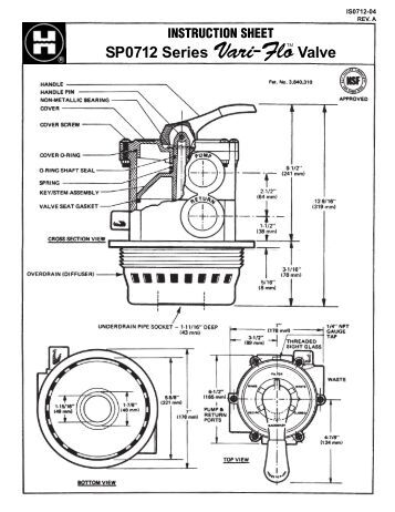 Hayward Valve Parts Diagram on smithbrothersservices