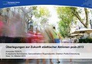 Dr. Alexander Ferstl, Europäische Kommission ... - Urban Plus