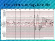 This is what seismology looks like! - USC Geodynamics