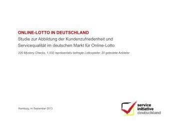 Online-Lotto in Deutschland - Service Initiative Deutschland