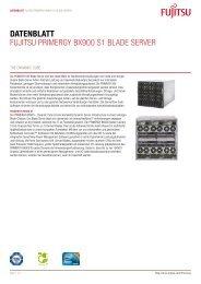 Datenblatt Fujitsu PRiMERGY BX900 s1 BladE sERvER - it-consulting
