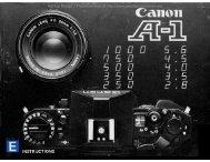 Canon A-1 instruction manual
