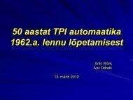 50 aastat TPI automaatika ja