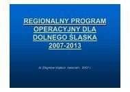 regionalny program operacyjny dla dolnego śląska 2007-2013