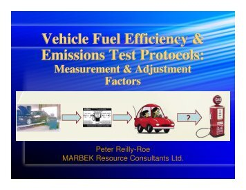 Vehicle Fuel Efficiency & Emissions Test Protocols ... - Pollution Probe