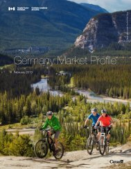 Germany Market Profile - Canadian Tourism Commission - Canada