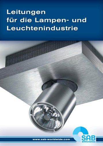 leitungen für lampen und lichttechnik