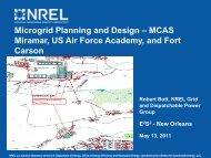 Microgrid Planning and Design – MCAS Miramar, US Air ... - E2S2