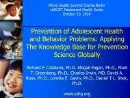 Prevention of Adolescent Health and Behavior ... - SDRG Home