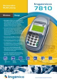 Die innovative WLAN Lösung Ingenico 7810 Wireless Range - IT-POS