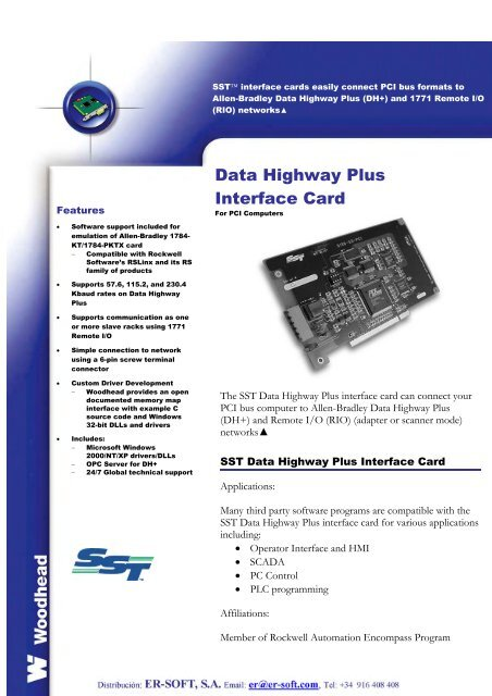 Data Highway Plus Interface Card - ER-Soft