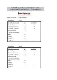 Bodenrichtwerte 2012 Lorch und Stadtteile - Lorch im Rheingau