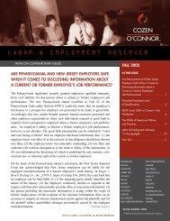 labor_fall 2005.qxd - Cozen O'Connor