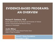 evidence-based programs - Social Development Research Group