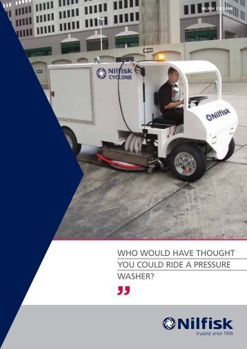 who would have thought you could ride a pressure washer?