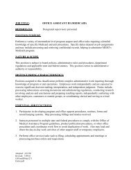 JOB TITLE: OFFICE ASSISTANT III (MEDICAID) REPORTS TO ...