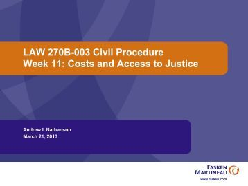 Week 11 - University of British Columbia Faculty of Law