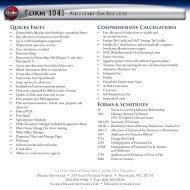 Quicks Facts Comprehensive Calculations Forms ... - Drake Software