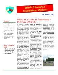 Boletín Informativo Transmisiones Militares - Ministerio de la ...