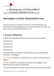 Terminplanung Jahrgang 2012 bis 2015 (PDF-File) - Bewegung und ...