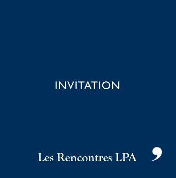 INVITATION - Lefèvre Pelletier & associés