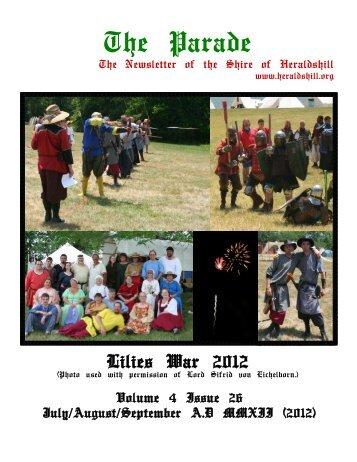 Volume 4, Issue 26 - July-September 2012 - Heraldshill!