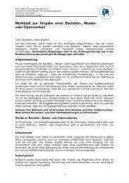 Merkblatt zur Vergabe einer Diplomarbeit - dbis - Humboldt ...