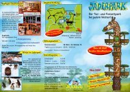 Der Tier- und Freizeitpark bei jedem Wetter! - Jaderpark