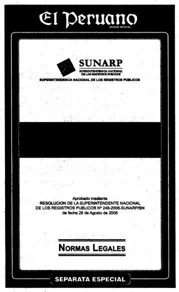 Reglamento de Inscripciones del Registro de Predios