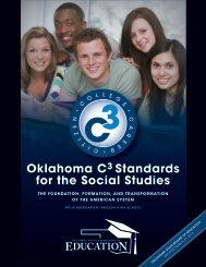 Oklahoma C3 Standards for the Social Studies - Curriculum and ...