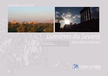Croisière Lumières du Levant - Terre Entiere