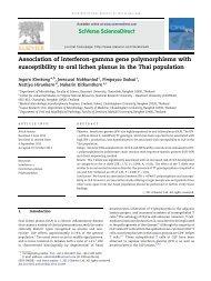 Association of interferon-gamma gene polymorphisms with ...