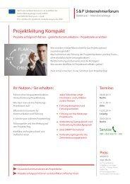 Projektleitung Kompakt - SP-Unternehmerforum