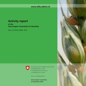 Activity Report 2008-2011 - EFBS - admin.ch