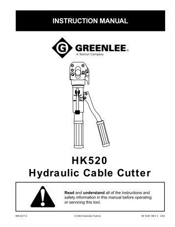 HK520 Hydraulic Cable Cutter - Precis E-business Systems