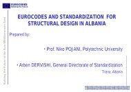 Eurocodes and standardisation for structural design in Albania
